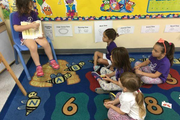 Prek 4 girls reading